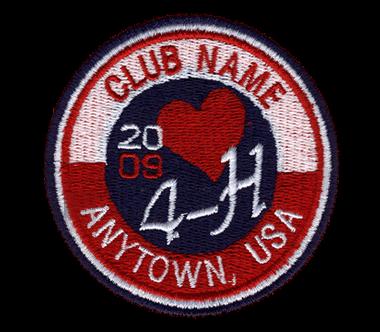 4-h emboiredered logo custom 4-h club