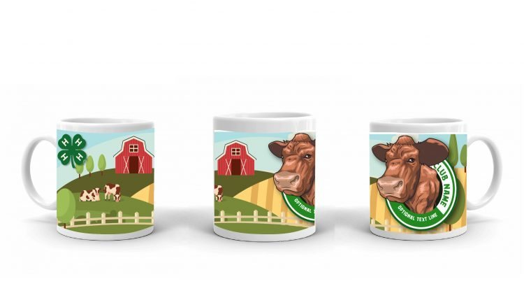 4-H Coffee Mug - 4-H Club beef cattle
