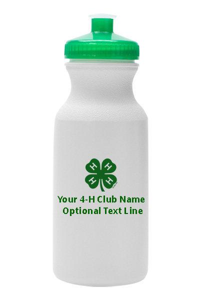 4-h water bottle - plastic