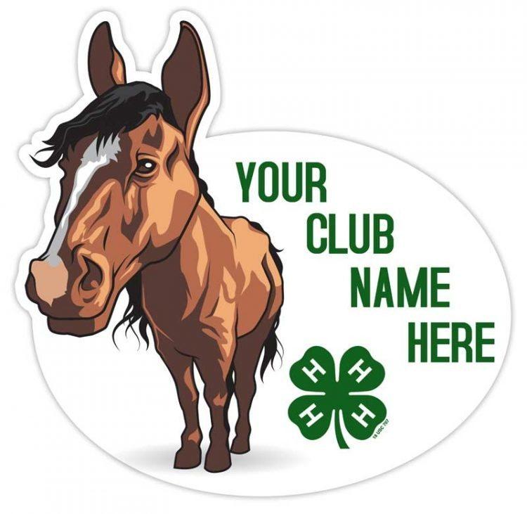 4-h sticker - horse
