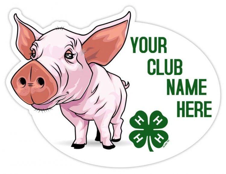 4-h sticker - pig