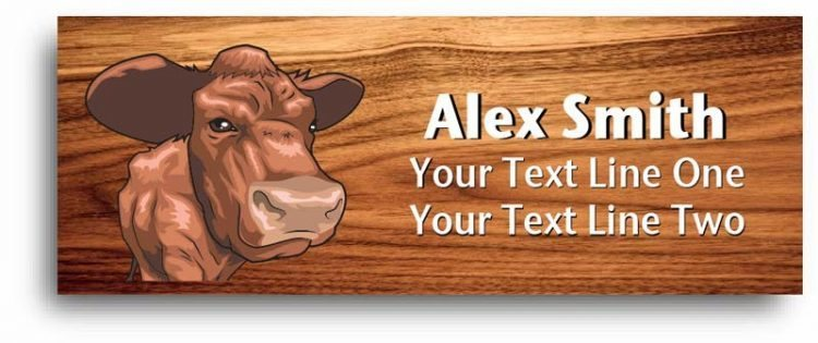 4-h name tag - beef cattle