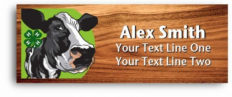 4-h name tag - dairy cow