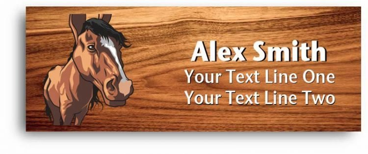 4-h name tag - horse