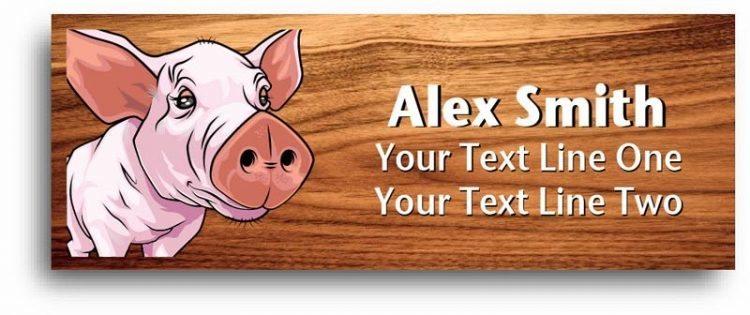4-h name tag - pig