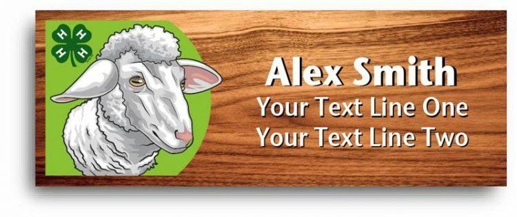 4-h name tag - sheep