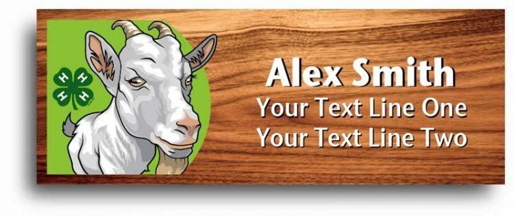 4-h name tag - goat