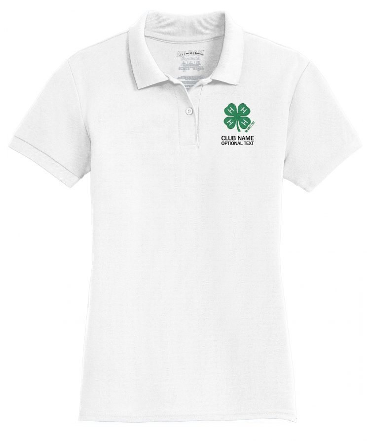 4-H logo ladies polo