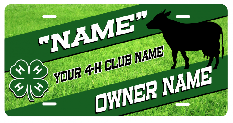 4-H Stall Tag - green grass