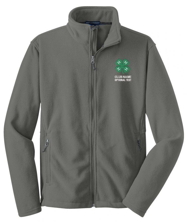 4-h logo fleece jacket