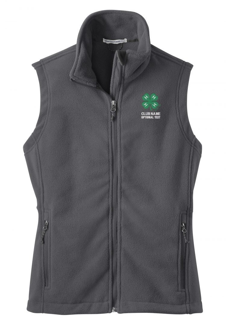 4-h logo fleece vest