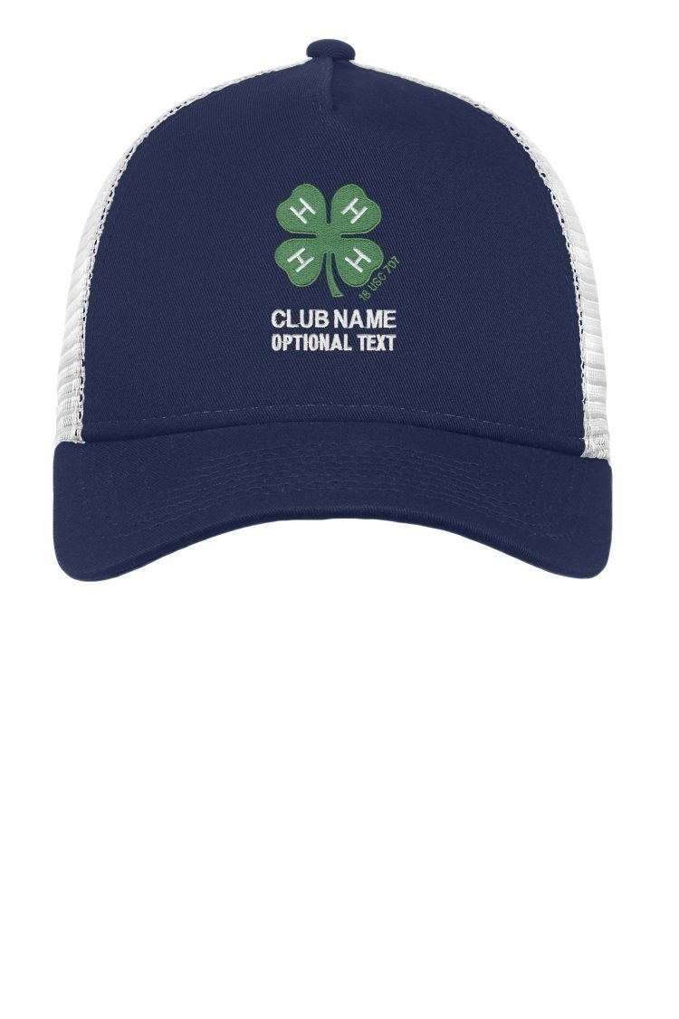 4-h logo ball cap