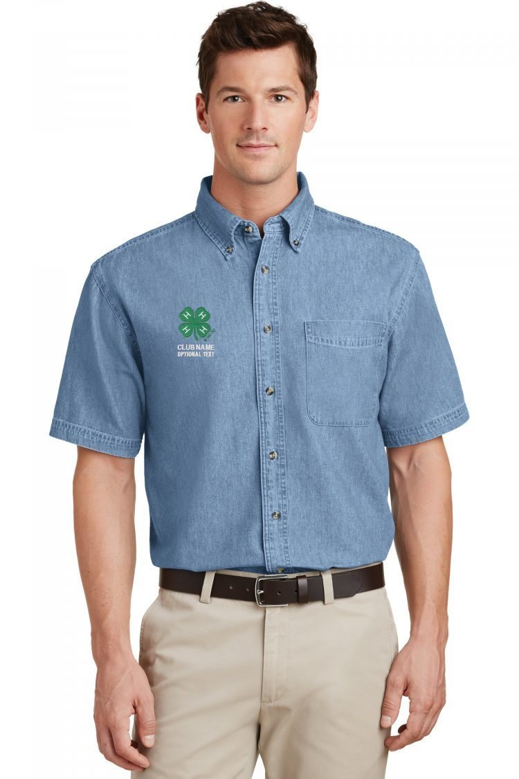 4-h denim shirt