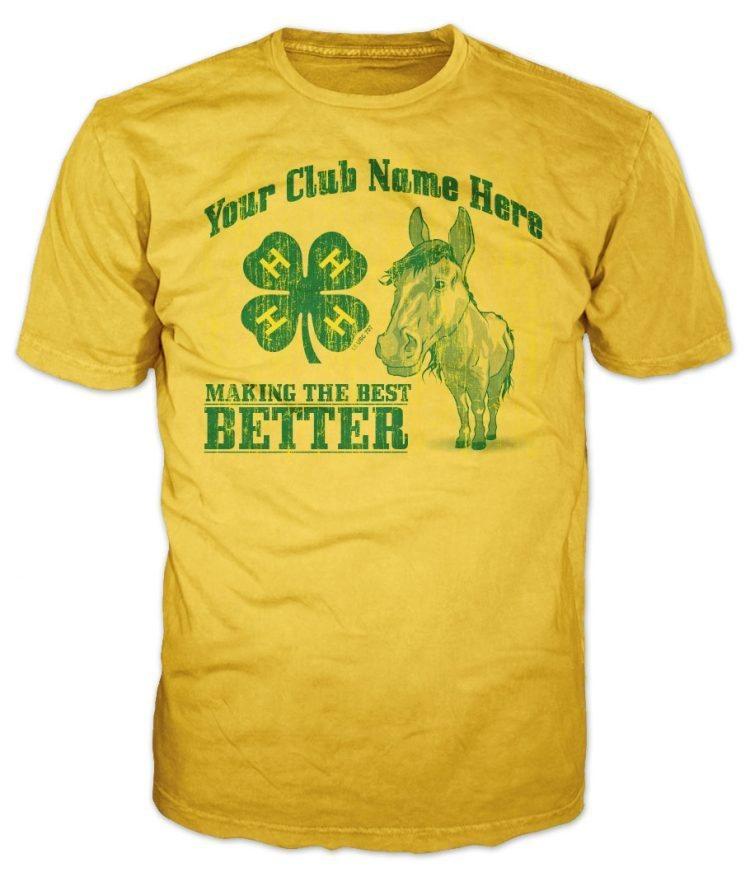 4-h custom t-shirt horse