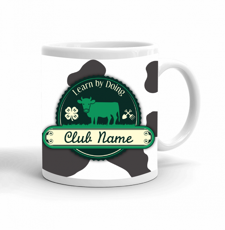4-H Coffee mug cow