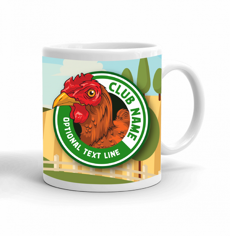 4-H Coffee mug - chicken landscape