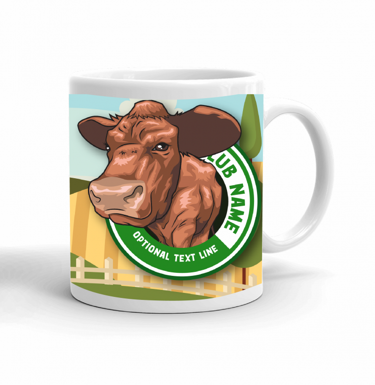 4-H Coffee mug - beef cattle landscape