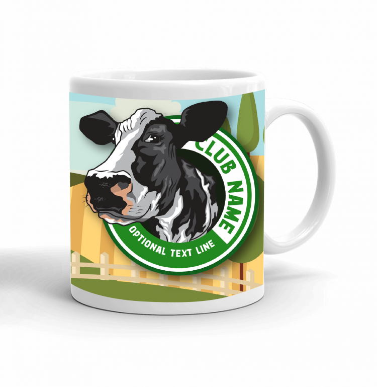 4-H Coffee mug - dairy cow landscape