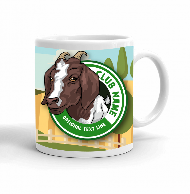 4-H Coffee mug - goat landscape