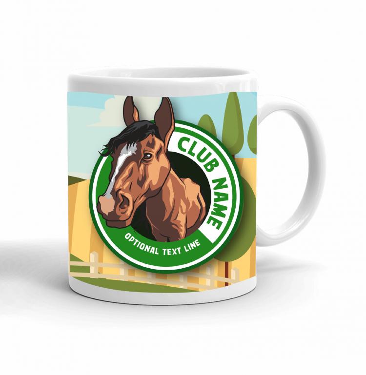 4-H Coffee mug - horse landscape