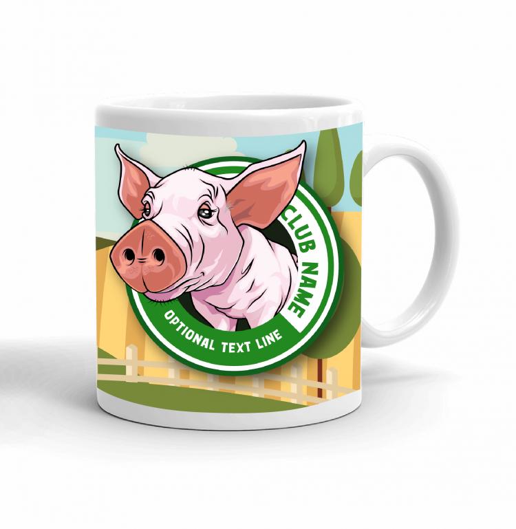4-H Coffee mug - pig landscape