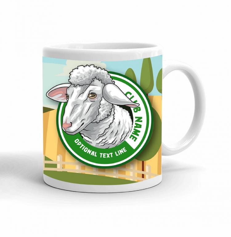 4-H Coffee mug - sheep landscape