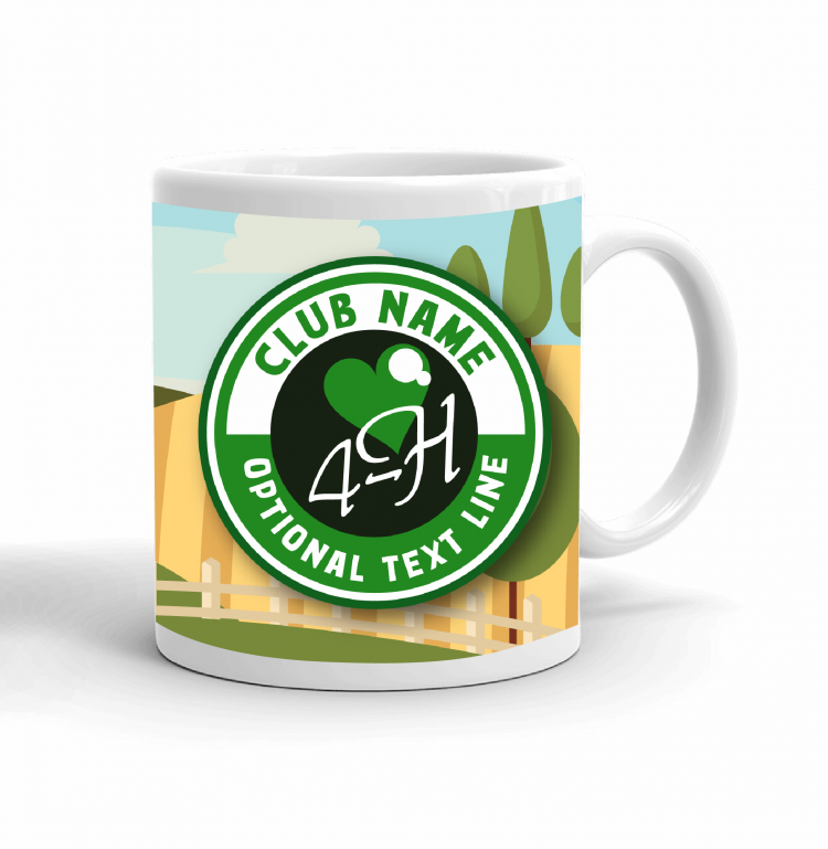 4-H Coffee mug - love 4-H landscape