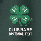 4-h embroidered logo