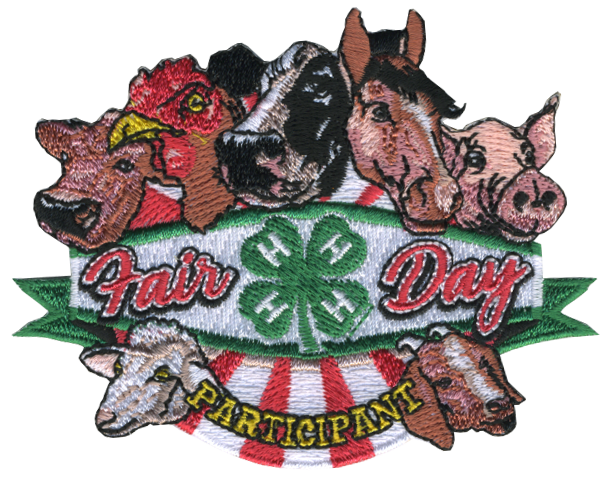 4-H embroidered patch - fair day participant