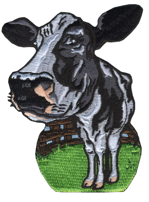 dairy cow embroidered patch