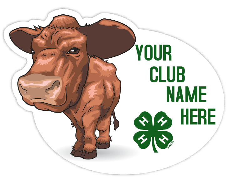 4-h sticker - beef cattle