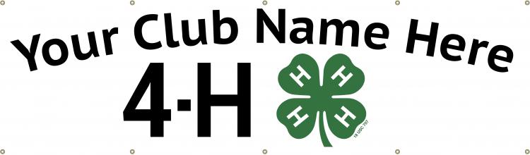 4-h vinyl banner - 4-h club