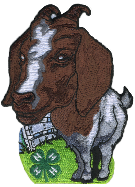 4-H embroidered patch - goat