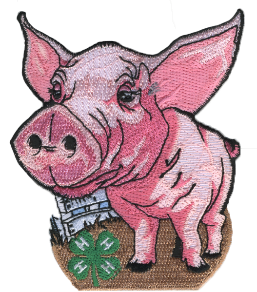 4-H embroidered patch - pig