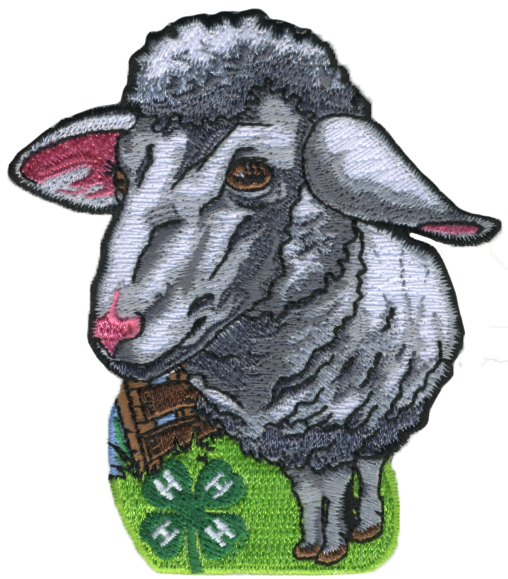 4-H embroidered patch - sheep