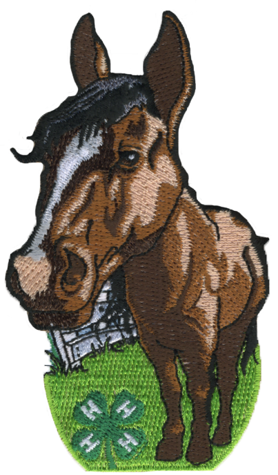 4-H embroidered patch - horse