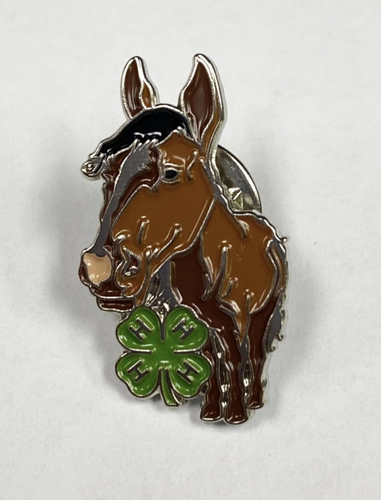 4-H lapel pin - horse and 4-H logo